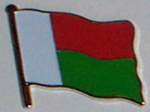 Madagascar Country Flag Enamel Pin Badge